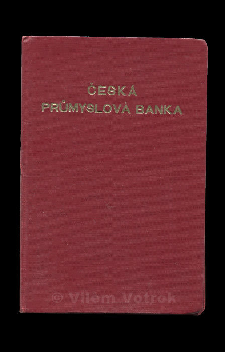 Czech Industrial bank affiliate in Rakovnik savingsbook 634